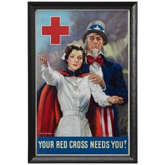 World War I Red Cross Propaganda Poster by James Montgomery Flagg