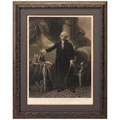 George Washington Engraving by Henry Sadd, circa 1844