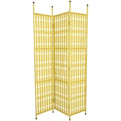 Arthur Umanoff Three-Panel Folding Screen in Yellow
