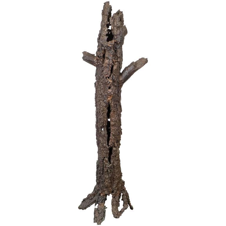 Brutalist Bronze Tree Sculpture