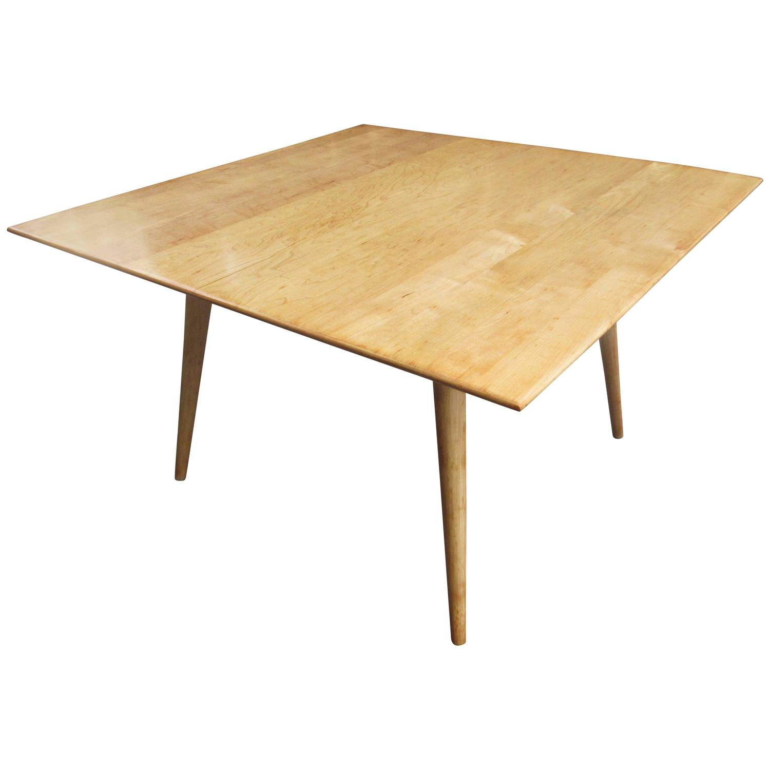 Paul mccobb planner group square coffee table or low table at 1stdibs Low coffee table square