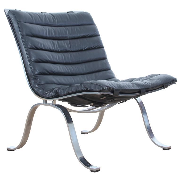 Mid-Century Modern Scandinavian Chair Model Ariet by Arne Norell