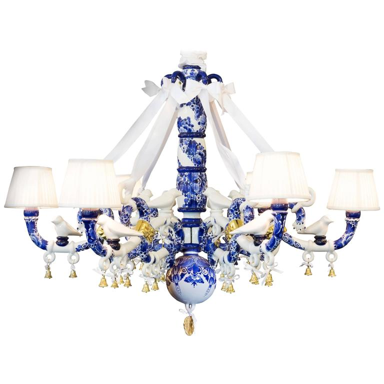 Delft blue chandelier by marcel wanders for sale at 1stdibs delft blue chandelier by marcel wanders for sale mozeypictures Choice Image