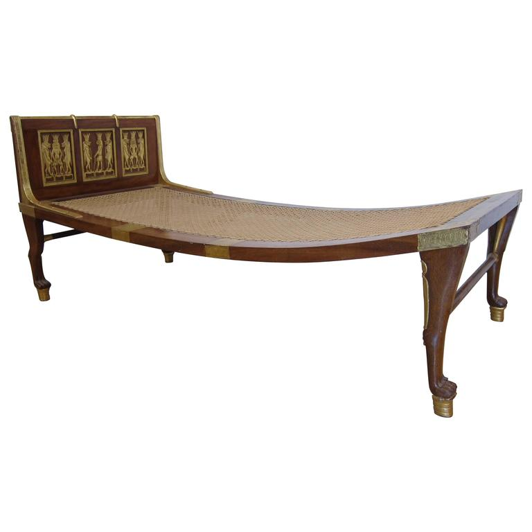 Chaise Longue Egyptian Revival Style