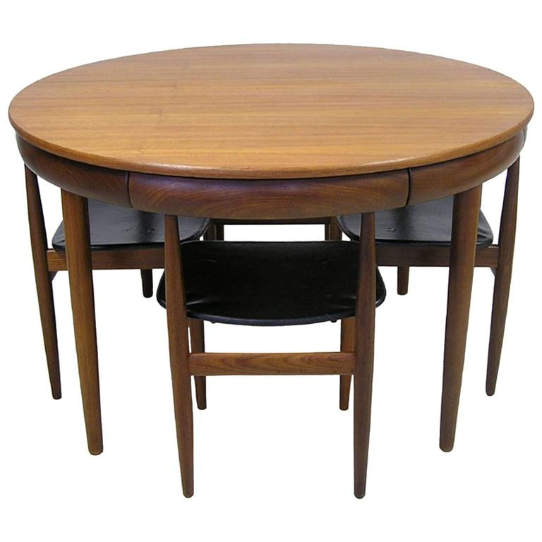 Teak Dining Room Table And Chairs: 1960s Hans Olsen Teak Dining Table And Chairs, Denmark At