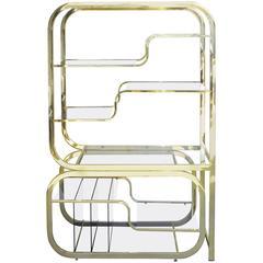 Brass Milo Baughman Expandable Etagere for Design Institute of America
