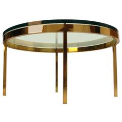 Nicos Zographos Solid Brass Coffee Table