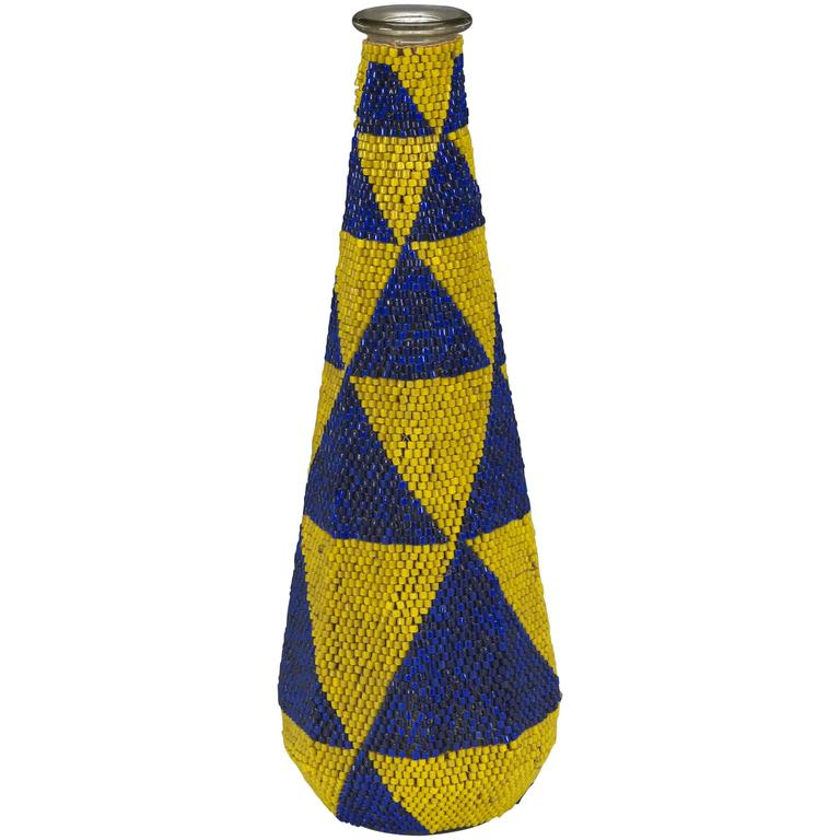 Tribal Prestige Or Display Beaded Glassware Tutsi People Rwanda Africa For Sale At 1stdibs