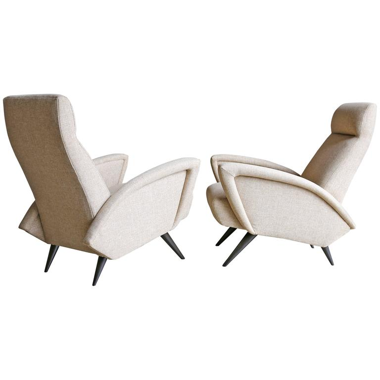 Pair of Sculptural Italian Lounge Chairs