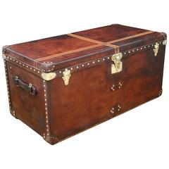 1920s Steamer Leather Louis Vuitton Trunk, Malle Louis Vuitton