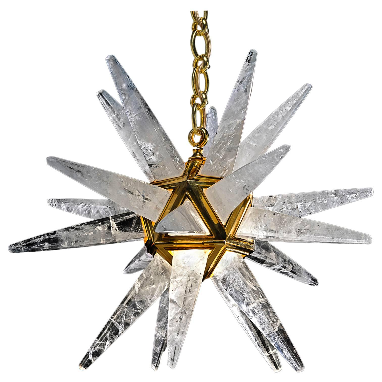 Rock Crystal Star III Chandelier by Alexandre Vossion