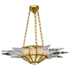 Rock Crystal Sunshine Chandelier by Alexandre Vossion