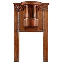 Art Nouveau Walnut Fireplace in the Manner of Charles Harrison Townsend