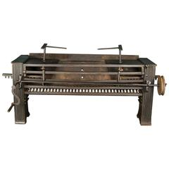 Early Carron Co Wrought-Iron Kitchen Fire Grate