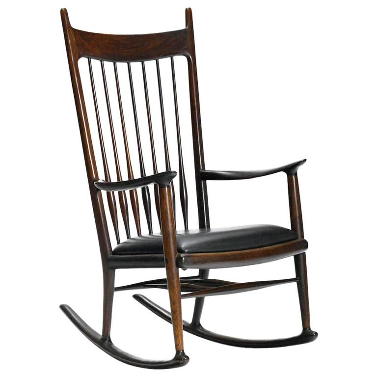 Rare Early Rosewood Rocking Chair by Sam Maloof For Sale at 1stdibs