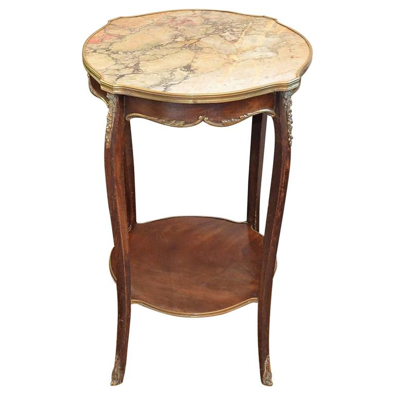 louis xv style side table with marble top 19th century for sale at 1stdibs. Black Bedroom Furniture Sets. Home Design Ideas