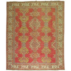 Room Size Antique Turkish Oushak Carpet