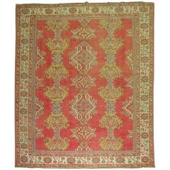 Room Size Antique Turkish Oushak Carpet