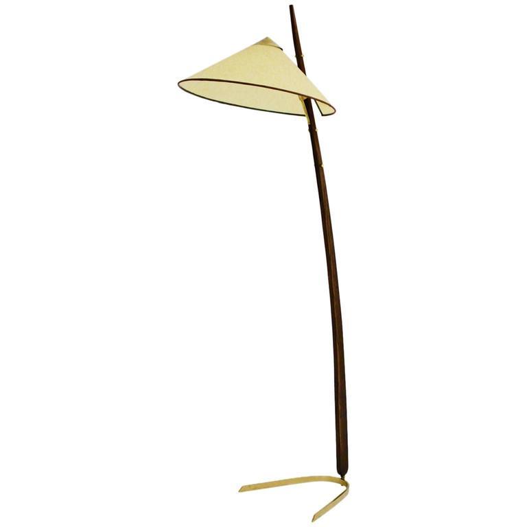 rupert nikoll midcentury modern floor lamp austria circa 1