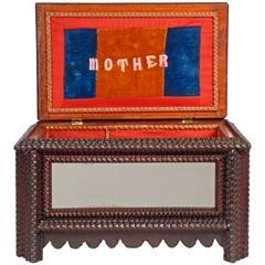 Inspired 'Mother' Tramp Art Box