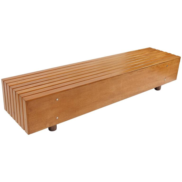 Bench in Peroba Wood by Sergio Rodrigues, Brazil 1970s 1