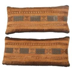Southeast Asian Yao Tribal Silk Ribbon Pillows