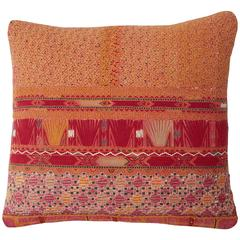 Vintage Afghani Pashtun Embroidered Pillow