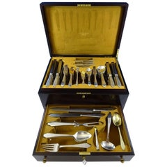 Clinton by Tiffany & Co. Sterling Silver Dinner Flatware Set 132 Pcs Fitted Box