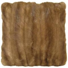 Selection of Luxurious Single and Pairs of Mink, Fox, Fur Pillows