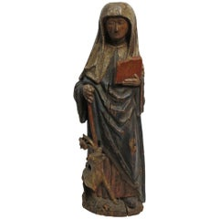 Large 18th Century Northern European Saint Statue