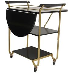 Mid-20th Century Brass Bar Cart