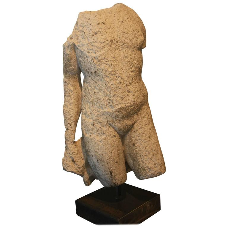 Weathered Classical Greek Statue Or Sculpture 20th