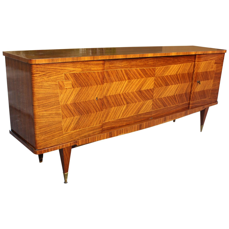 french art deco art moderne palisander zigzag buffet. Black Bedroom Furniture Sets. Home Design Ideas