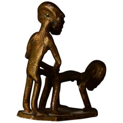 Small Bronze Sculpture, Erotic Couple