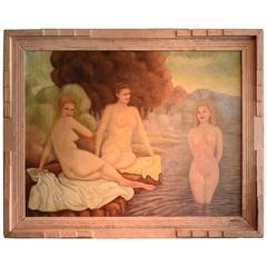 Bathing Beauties, Canvas Painting