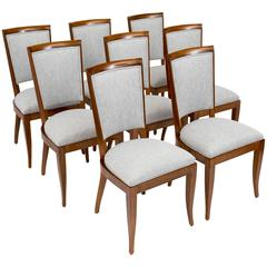 Set of Eight Side Chairs by Dominique
