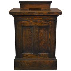1920 Oak Lectern or Hostess Stand