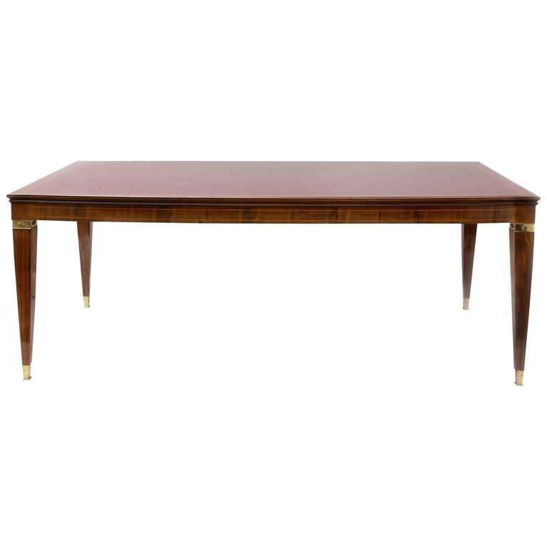 Italian Mid-Century Modern Dining Table or Desk in the style of Paolo Buffa
