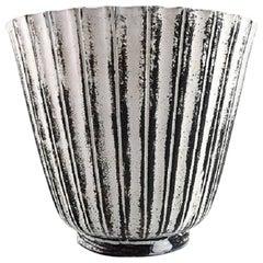 Rare Kähler, Denmark, Glazed Earthenware Vase, 1930s, by Svend Hammershøi