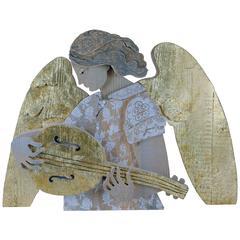 Cappella Nova Angel Wood Sculpture by Michelangeli, Italy