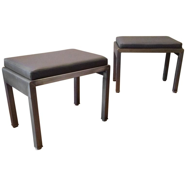 Pair of Art Deco Ottomans by Norman Bel Geddes for Simmons For Sale