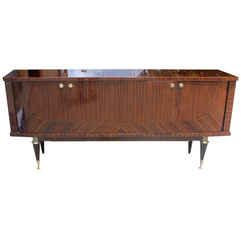 french art deco art moderne exotic macassar ebony buffet. Black Bedroom Furniture Sets. Home Design Ideas