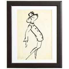 Rare Joe Eula 1962 YSL Fashion Illustration