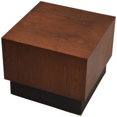 Minimalist Cube End Table, Pedestal, Sculpture Stand by Adrian Pearsall