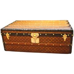 1920s Louis Vuitton Stenciled Monogramm Canvas Steamer Trunk