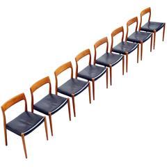 Niels Moller Model 77 Dining Chairs in Teak, Denmark, 1959
