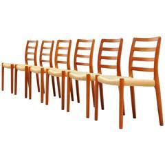 Niels Moller Model 85 Teak Dining Chairs, Denmark, 1981