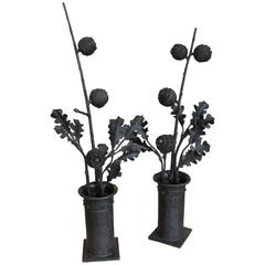 Pair of Flower Pots by Alessandro Mazzucotelli