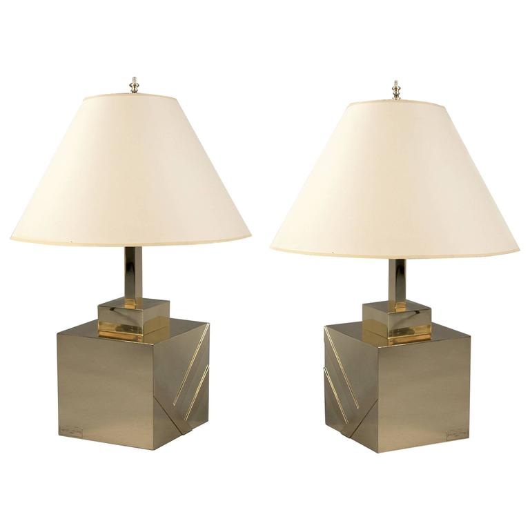 Pair of Table Lamps, Italy, 1970s
