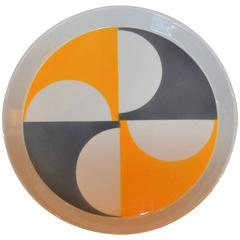 Modernist Colorful Plate Designed by Gio Ponti, Italy, 1960s